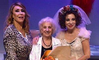 Estela de Carlotto visitó a Moria Casán y a Nacha Guevara  | Estela de carlotto