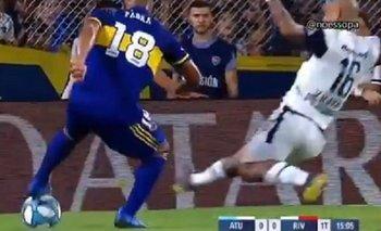 ¿Penal para Boca? la patada a Fabra en el área de Gimnasia | Boca juniors