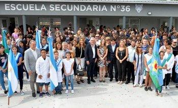Julio Zamora y Agustina Vila inauguraron una escuela en Tigre | Educación