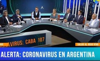 Cahn desmintió a todo el panel de Animales Sueltos en vivo | Coronavirus