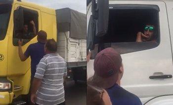 Video: así aprietan a camioneros los sojeros M  | Sojeros m