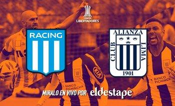 Mirá en vivo Racing vs. Alianza Lima | Copa libertadores
