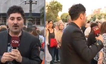 Agreden a cronista de C5N en la marcha de Juntos por el Cambio  | Televisión