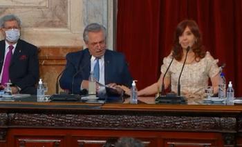 El gesto de Cristina para calmar a Alberto Fernández que pasó inadvertido | El discurso de alberto