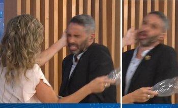 El cachetazo de Sandra Borghi al Pollo Álvarez en vivo | Televisión