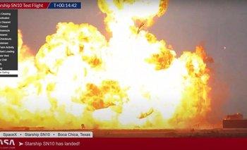 Starship aterrizó con éxito pero terminó con una gran explosión | Elon musk