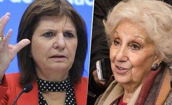 Patricia Bullrich le exigió arrepentirse a Estela de Carlotto | Derechos humanos