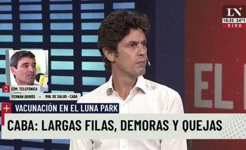 Vacunación en el Luna Park: la bochornosa justificación de Lousteau con Quiros | Martín lousteau