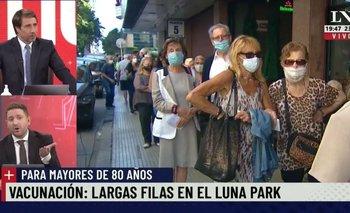 Vacunación en el Luna Park: Viale destrozó a Larreta en el pase con Eduardo Feinmann | Jonatan viale