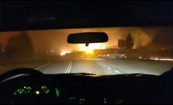 Incendios en El Bolsón: los impactantes videos  | Incendio en el bolsón