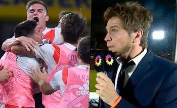Vignolo olvidó el micrófono prendido, ¿y se lamentó por el gol de River? | Superclásico
