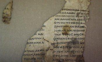 Histórico: descubren un pergamino bíblico de 2.000 años de antigüedad | Historia