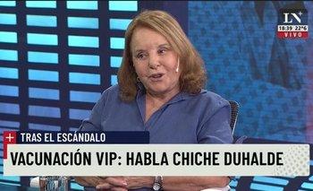 Vacunas VIP: Chiche Duhalde rompió el silencio con Feinmann | Hilda chiche duhalde