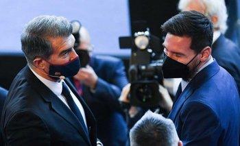 El ruego del Presidente de Barcelona a Messi durante su asunción | Fútbol