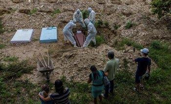 Catastrófico récord de muertos por COVID-19 en Brasil: 4.195 | Pandemia