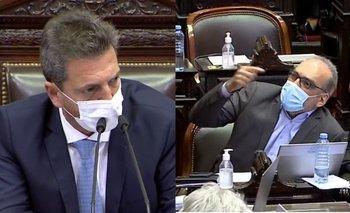 "Massa explotó contra Fernando Iglesias: ""¡Es un irrespetuoso!"" | Cámara de diputados"
