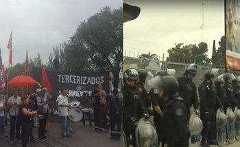 Haedo: Tras la tensión entre trabajadores y la Policía, se reanuda el servicio del Sarmiento | Despidos