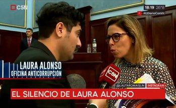 Una Laura Alonso enojada no pudo responder la pregunta más incómoda | Laura alonso