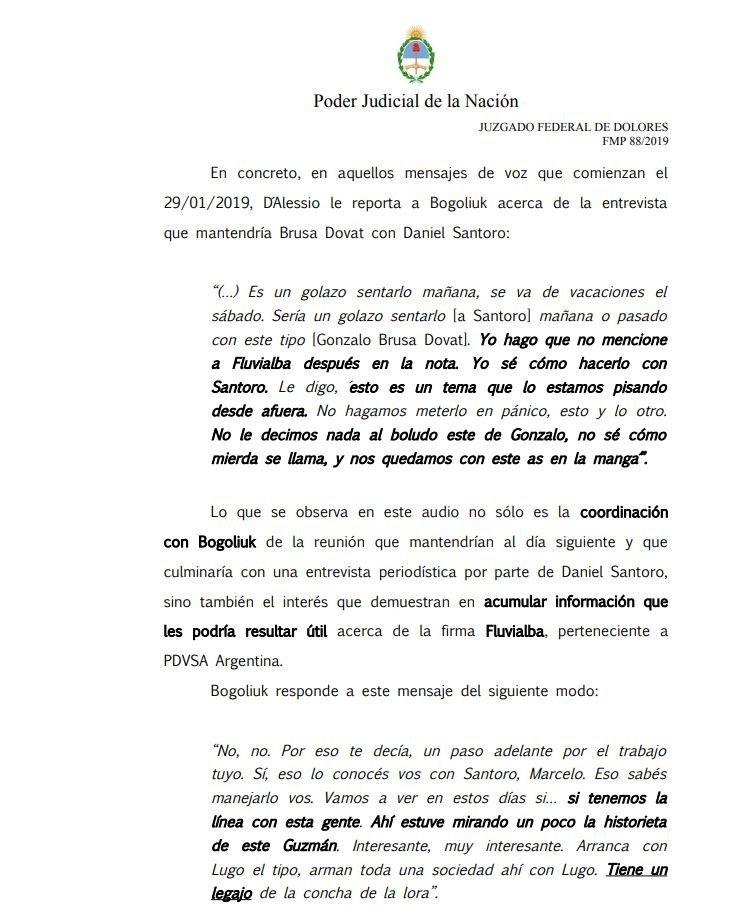 Resolución del juez federal de Dolores, Alejo Ramos Padilla.