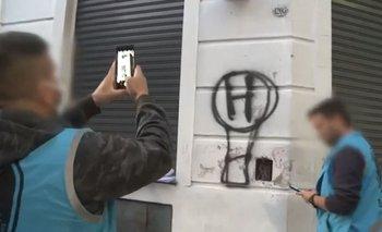 Violó la cuarentena para pintar un escudo de Huracán | Coronavirus en argentina