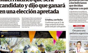 Hace un año Macri iba por la reelección: Clarín lo festejó | Pasaron cosas