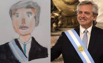 Alberto Fernández showed the drawings that the children send him | Coronavirus in Argentina