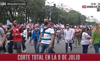 Corte total en la 9 de julio: piden ayuda económica del Gobierno   Ciudad