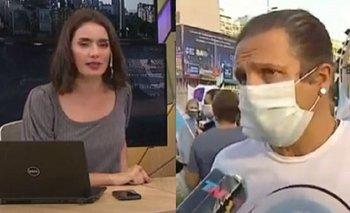 El enojo de la conductora de TN con un entrevistado en el Obelisco   Todo noticias