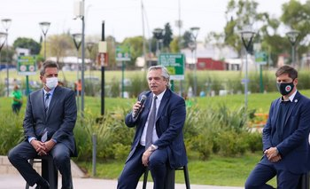 Con un emotivo acto, Fernández homenajeó a Meoni | Transporte