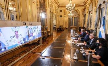 Los gobernadores se comprometieron a restringir la circulación   Alberto fernández