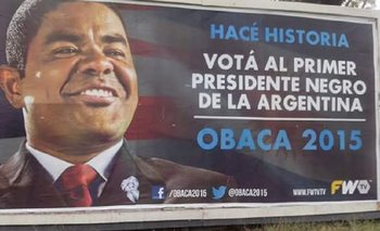 Omar Obaca, el insólito candidato que ya tiene afiches de campaña | Elecciones 2015