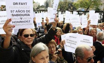 Tribunales: marcha en defensa de Carlos Fayt | Carlos fayt