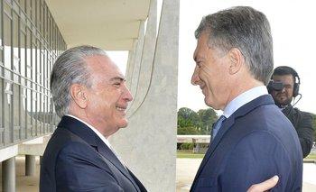 Temer apoyó la decisión de Macri de negociar con el FMI | Brasil