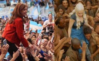 Game of Thrones: la comparación entre Cristina Kirchner y un personaje de la serie que explota en las redes   Cristina kirchner