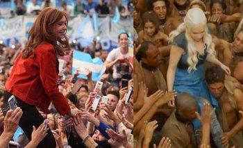 Game of Thrones: la comparación entre Cristina Kirchner y un personaje de la serie que explota en las redes | Cristina kirchner