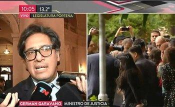 TN cortó una conferencia de Garavano cuando le preguntan por Rafael Nahuel | Medios