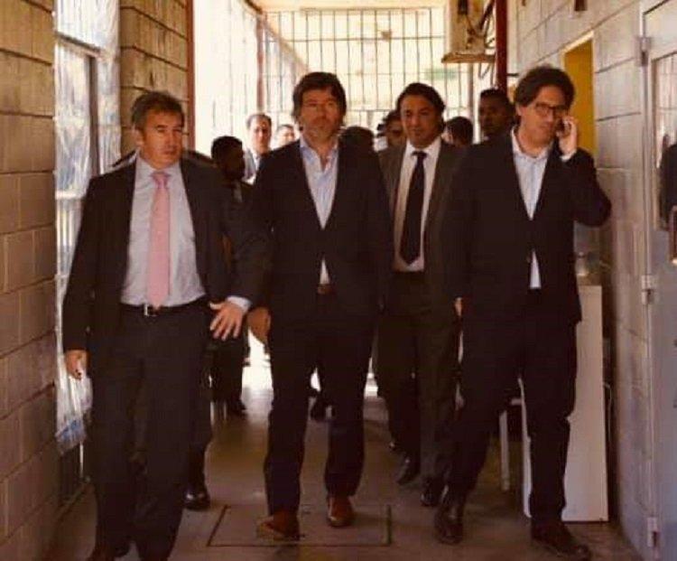 Del Facebook de Santiago Otamendi: él junto a Germán Garavano y Juan Bautista Mahiques.