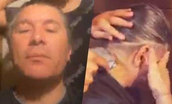 El sufrimiento de Pablo Lescano: le cortaron el pelo en vivo | Damas gratis