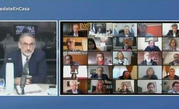 Luis Basterra expuso ante los senadores de manera virtual   Congreso