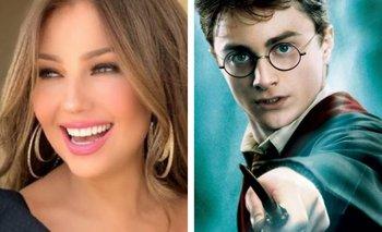 Thalía, la inesperada fan de Harry Potter | Redes sociales