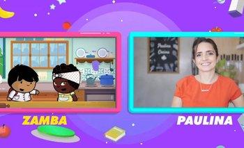 Así fue el esperado encuentro entre Zamba y Paulina Cocina | Paka paka