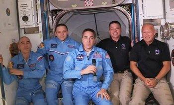 Llegaron los astronautas a la Estación Internacional | Fenómenos