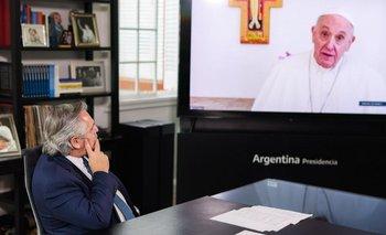 Alberto redujo la gira europea e incluye reunión con el Papa Francisco | Alberto con el papa