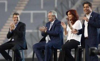 Fuerte señal de unidad del FdT: Alberto, CFK, Massa y Kicillof, juntos en un acto | Frente de todos