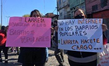 Manifestaciones reclamando alimentos y medidas sanitarias en barrios de la Ciudad | Crisis económica