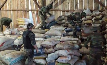Seguridad incautó más de 2.500 toneladas de granos del contrabando   Soja