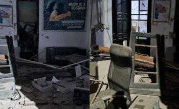 Atentaron con explosivos contra la sede del Frente de Todos en Bahía Blanca | Bahía blanca