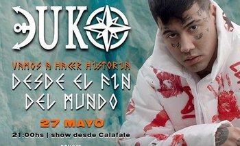 Desde el Fin del Mundo: cómo ver el show virtual de Duki en El Calafate | Música
