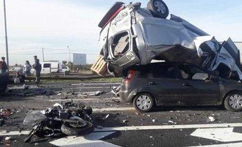 Panamericana: un muerto y siete heridos en un choque múltiple | Fuerte accidente