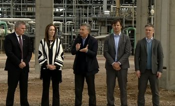 El día que Macri fue inaugurar una obra en la planta que explotó en Bahía Blanca | Mauricio macri